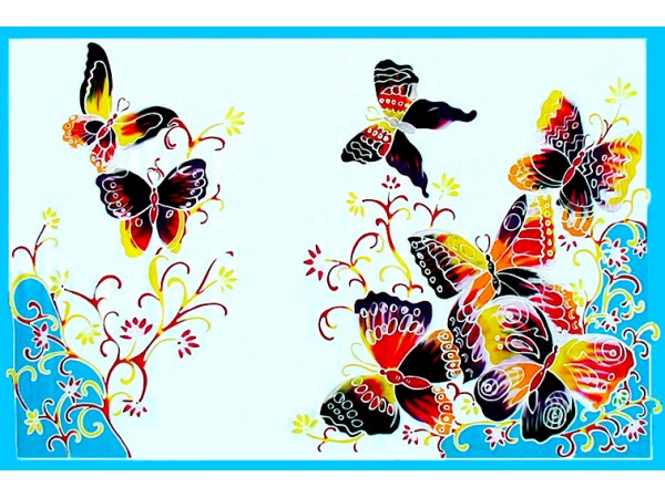 PLUS SIZE SARONG - Butterflies - OSF 362WH