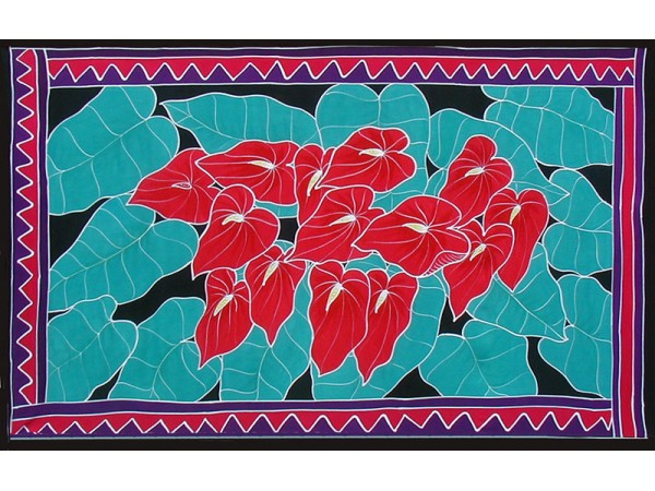 SARONG - Anthuriums - F 308RED